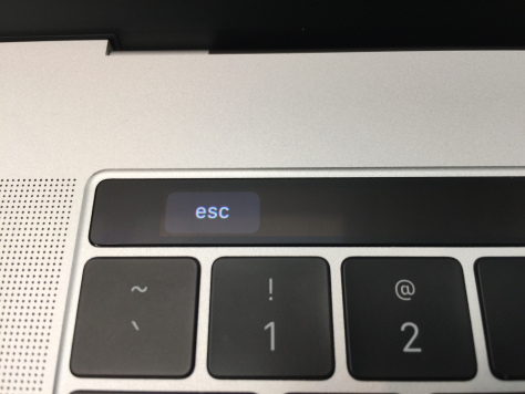 MacBook Pro with Touchbar - ESC key closeup