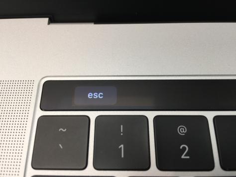 MacBook Pro with Touchbar - ESC key closeup